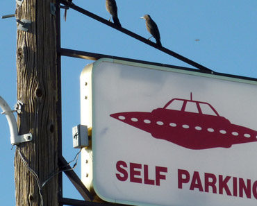 Alien Highway Sign