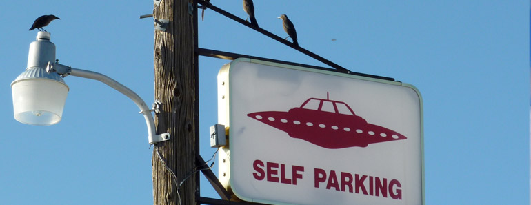 Parking sign on the Extraterrestrial Highway
