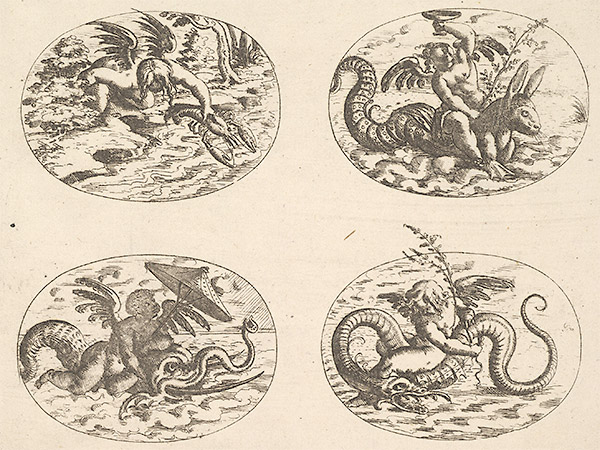 Putti With Sea Monsters