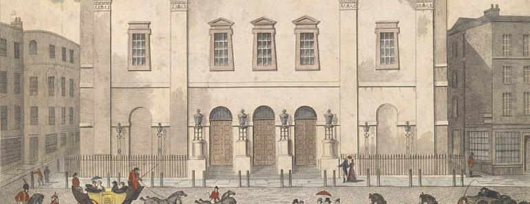 Old Print of the Theatre Royal Drury Lane