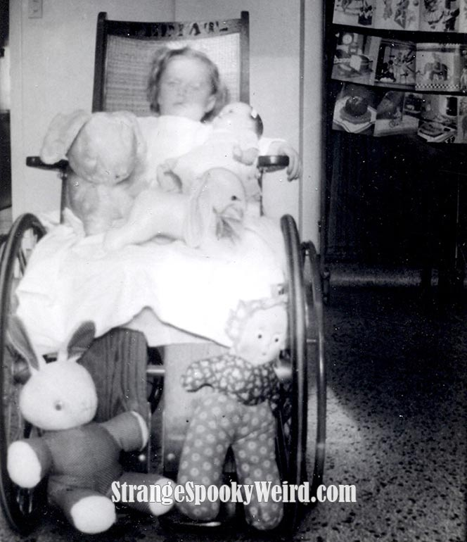 Sick Wheelchair Girl 1940s-ish